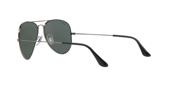 RAY-BAN RB3025 AVIATOR LARGE METAL » GUNMETAL CRYSTAL GREEN POLARIZED