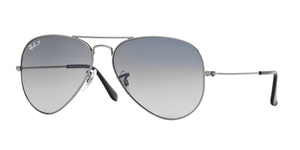 RAY-BAN Aviator Large Metal RB3025-004/78 GUNMETAL CRYSTAL POLAR BLUE GRAD.GRAY