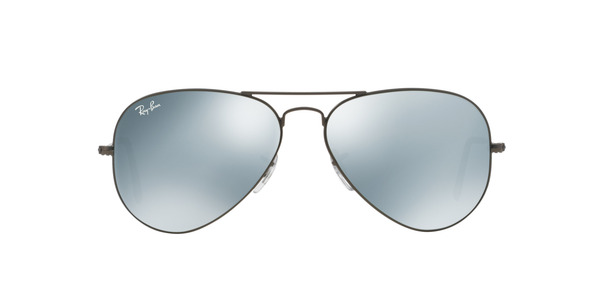 RAY-BAN RB3025 AVIATOR LARGE METAL » MATTE GUNMETAL CRYSTAL SILVER MIRROR