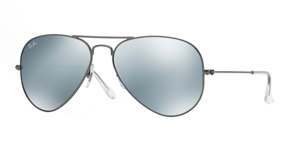 Rb3025 Aviator Large Metal 029/30 Matte Gunmetal Green Mirror Silver 58/14 135 gU1NbbAoTh