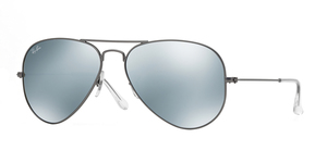 Aviator Large Metal RB3025 029/30 MATTE GUNMETAL CRYSTAL SILVER MIRROR