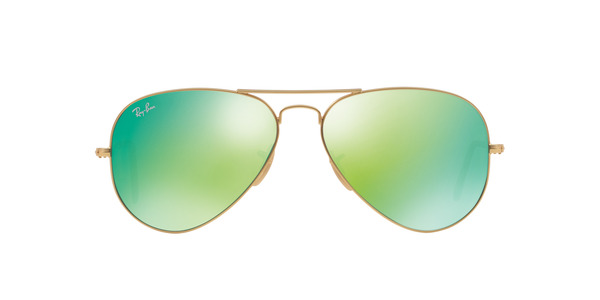 a024bce3553 ... RAY-BAN RB3025 AVIATOR LARGE METAL » MATTE GOLD GREEN MIRROR ...