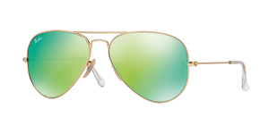 Aviator Large Metal RB3025-112/19 MATTE GOLD GREEN MIRROR