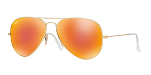 Aviator Large Metal RB3025-112/69 MATTE GOLD ORANGE MIRROR