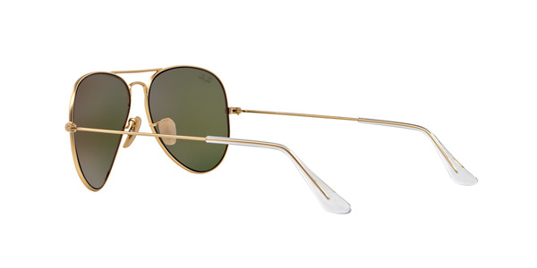 4d1f481e7 ... RAY-BAN RB3025 AVIATOR LARGE METAL » MATTE GOLD ORANGE MIRROR
