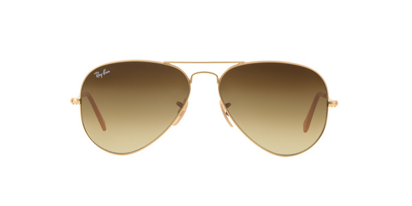 876ed797399 ... RAY-BAN RB3025 AVIATOR LARGE METAL » MATTE GOLD BROWN GRADIENT ...