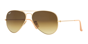 Aviator Large Metal RB3025-112/85 MATTE GOLD BROWN GRADIENT