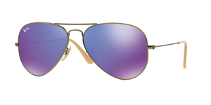 Aviator Large Metal RB3025-167/1M BRUSCHED BRONZE VIOLET MIRROR