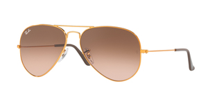 Aviator Large Metal RB3025-9001A5 SHINY LIGHT BRONZE