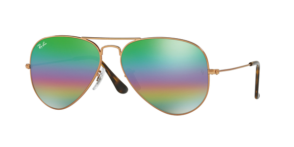 7d4b2ea1df5f RAY-BAN RB3025 AVIATOR LARGE METAL » METALLIC MEDIUM BRONZE ...