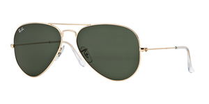 RAY-BAN Aviator Large Metal RB3025 L0205 ARISTA/CRYSTAL GREEN