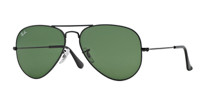 Aviator Large Metal RB3025 L2823 BLACK CRYSTAL GREEN