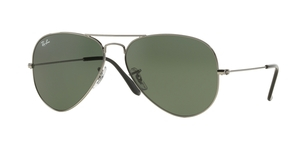 Aviator Large Metal RB3025 W0879 GUNMETAL CRYSTAL GREEN