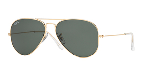 RAY-BAN Aviator Large Metal RB3025 W3234 ARISTA/CRYSTAL GREEN
