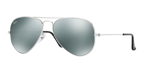 Aviator Large Metal RB3025 W3275 SILVER/GRAY MIRROR