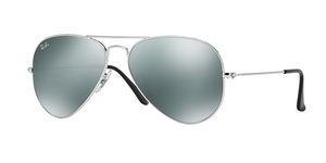 Aviator Large Metal RB3025 W3277 SILVER/GRAY MIRROR
