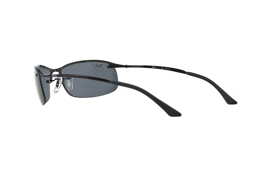 ... RAY BAN RB3183 TOP BAR » SHINE BLACK POLAR GRAY