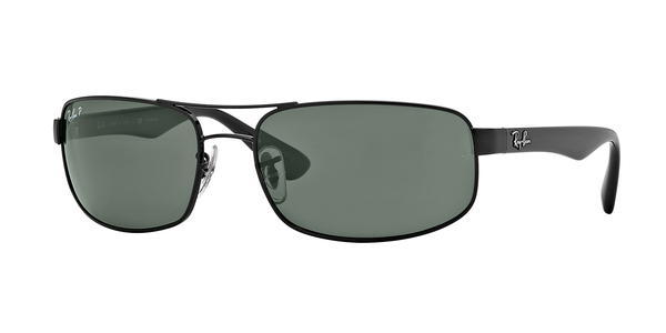 RAY-BAN RB3445 » BLACK CRYSTAL GREEN POLARIZED