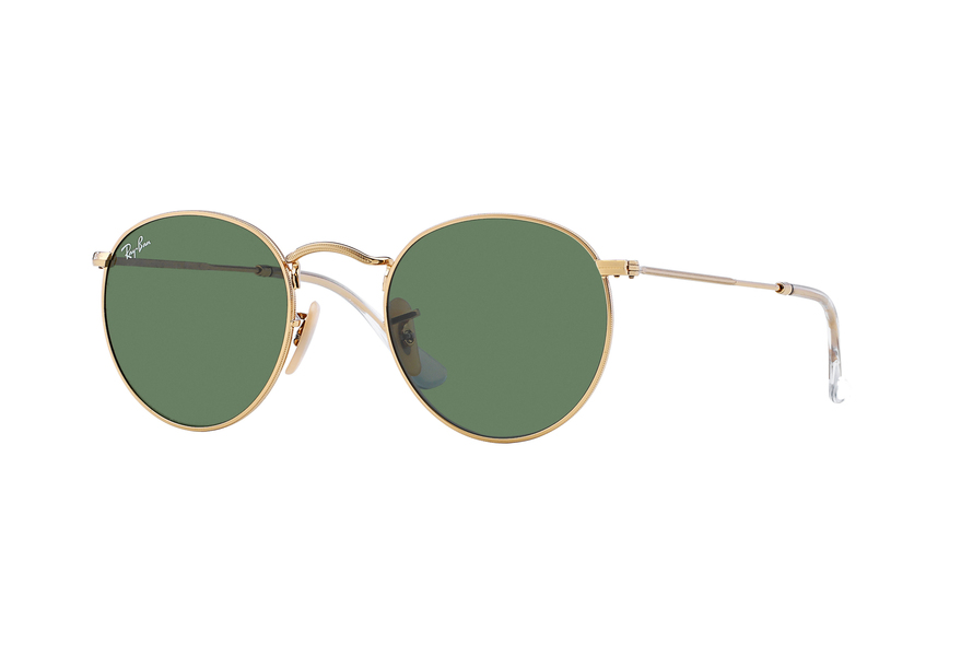 Ray Ban Round Metal RB3447 001 50 gold / green HEYGFM5wll
