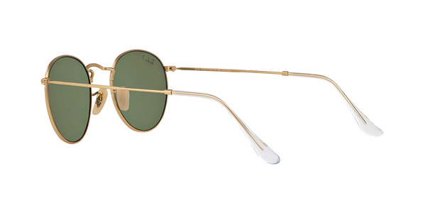 RAY-BAN RB3447 ROUND METAL » MATTE GOLD BLUE MIRROR POLAR