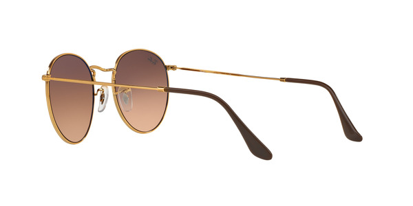 RAY-BAN RB3447 ROUND METAL » SHINY LIGHT BRONZE
