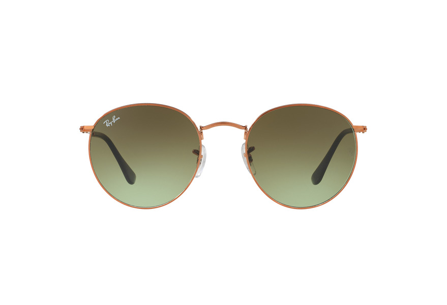 Ray-Ban Round Metal RB 3447 9002A6 Sonnenbrille in shiny medium bronze 50/21 7B0vrp