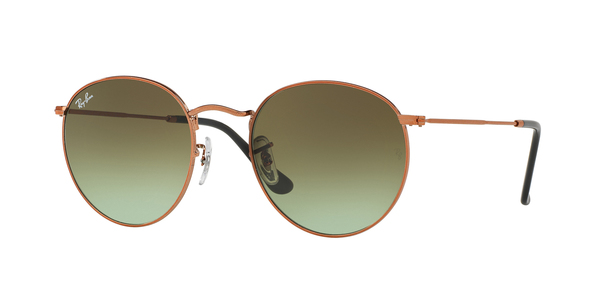 2b29a5cea32bc RAY-BAN RB3447 ROUND METAL » SHINY MEDIUM BRONZE ...