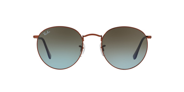 RAY-BAN RB3447 ROUND METAL » SHINY DARK BRONZE