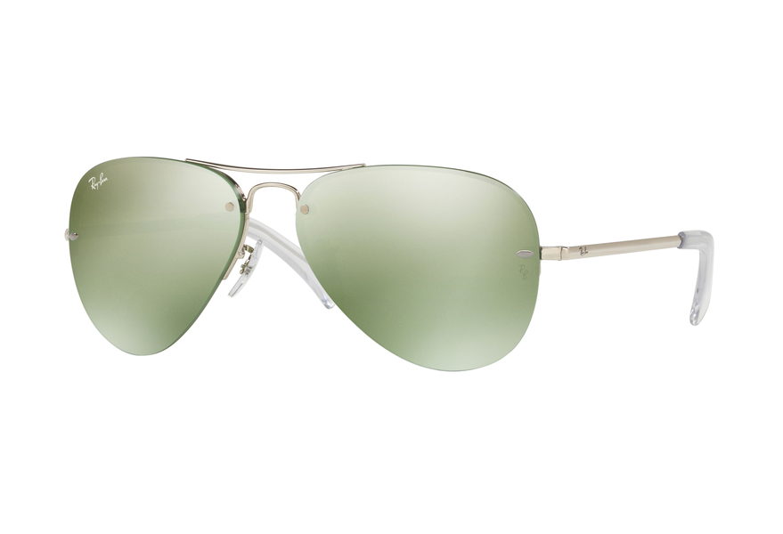 Ray-Ban RB3449 Sonnenbrille Silber 904330 59mm Wnw9uR