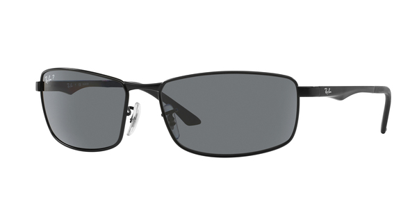 RAY-BAN RB3498 » MATTE BLACK POLAR GREY