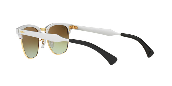 RAY-BAN RB3507 CLUBMASTER ALLUMINIUM » BRUSHED SILVER
