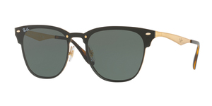 RAY-BAN Blaze Clubmaster RB3576N 043/71 GOLD STRIPED