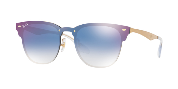 RAY-BAN BLAZE CLUBMASTER RB3576N » BRUSHED GOLD