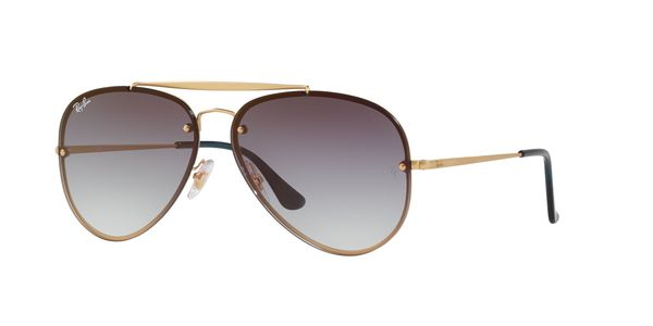 RAY-BAN BLAZE AVIATOR RB3584N » DEMI GLOSS GOLD