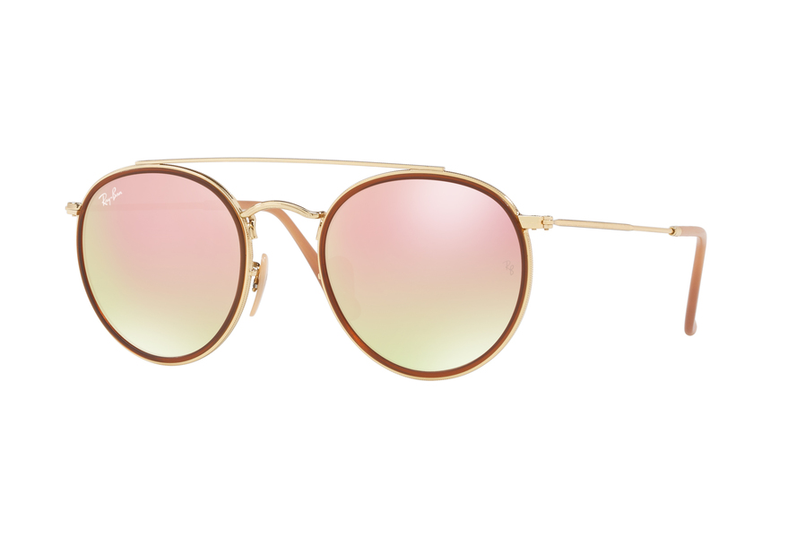 Ray-Ban RB3647N Sonnenbrille Gold 001/7O 51mm UPs4g6fatM