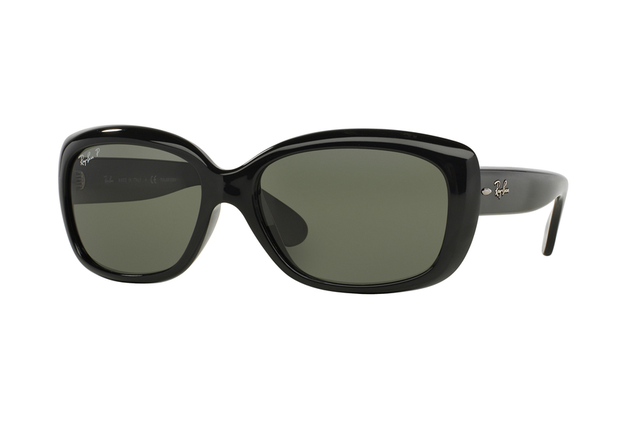 Ray-Ban Sonnenbrille Jackie Ohh RB 4101 601 in der Farbe black / crystal green By7oe