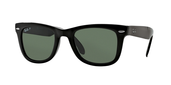 0d58c0dd76d RAY-BAN Folding Wayfarer RB4105 601 58 BLACK CRYSTAL GREEN POLARIZED