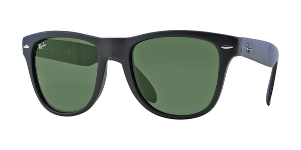 5a376fe47e RAY-BAN Folding Wayfarer RB4105 601S MATTE BLACK CRYSTAL GREEN