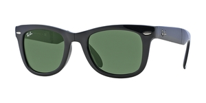 Folding Wayfarer RB4105 601 BLACK CRYSTAL GREEN