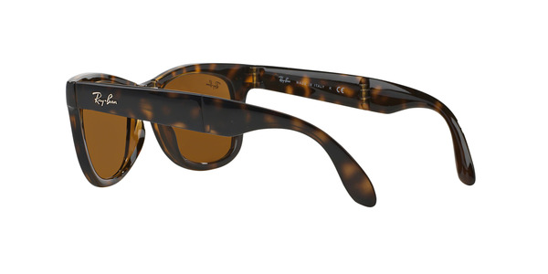 RAY-BAN RB4105 FOLDING WAYFARER » LIGHT HAVANA CRYSTAL BROWN