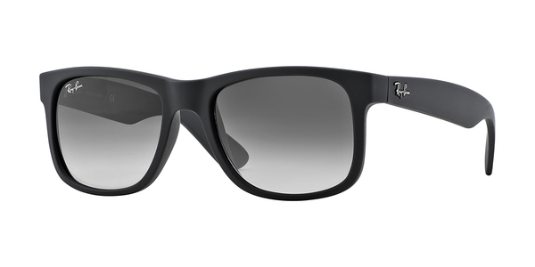 2e7ab2ac56c RAY-BAN Justin RB4165 601 8G RUBBER BLACK GRAY GRADIENT