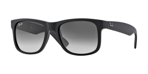 RAY-BAN Justin RB4165 601/8G RUBBER BLACK GRAY GRADIENT