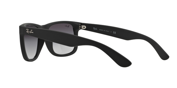 RAY-BAN RB4165 JUSTIN » RUBBER BLACK GRAY GRADIENT
