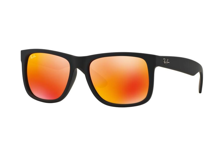 RAY BAN RAY-BAN Herren Sonnenbrille »JUSTIN RB4165«, schwarz, 622/6Q - schwarz/orange