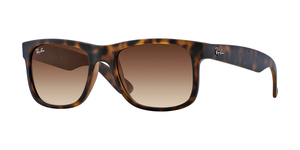 RAY-BAN Justin RB4165 710/13 RUBBER LIGHT HAVANA BROWN GRADIENT