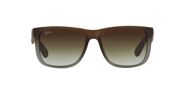 67ebc4b4ef79 ... RAY-BAN RB4165 JUSTIN » RUBBER BROWN ON GREY GREEN GRADIENT ...