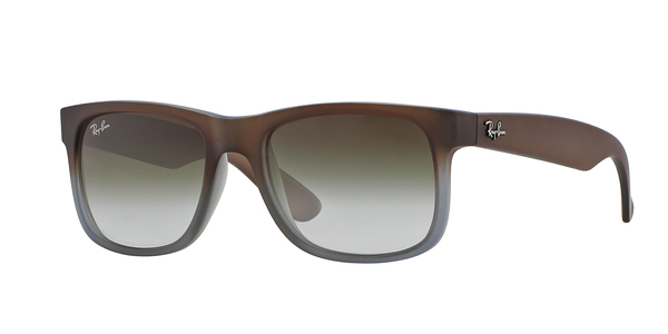 194f868ce3 RAY-BAN Justin RB4165-854 7Z RUBBER BROWN ON GREY GREEN GRADIENT
