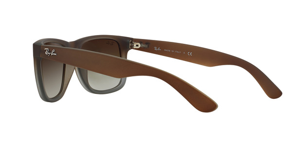 RAY-BAN RB4165 JUSTIN » RUBBER BROWN ON GREY GREEN GRADIENT