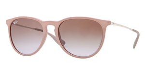 RAY-BAN Erika RB4171 600068 DARK RUBBER SAND GRADIENT BROWN