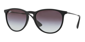 RAY-BAN Erika RB4171-622/8G RUBBERIZED BLACK GRAY GRADIENT
